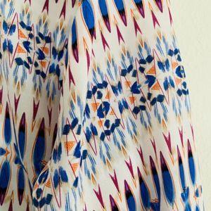 Fifteen Twenty Tops - Fifteen Twenty Silk Printed Tunic Blouse